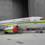 Первый самолет SSJ 100 для авиакомпании Lao Central покрашен в фирменные цвета авиаперевозчика