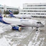 """В Ульяновске подготовили первый в 2020 году самолет Superjet 100 для """"Аэрофлота"""""""